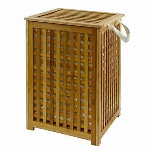 Panier à Linge Bambou : panier a linge en bois ~ Dailycaller-alerts.com Idées de Décoration
