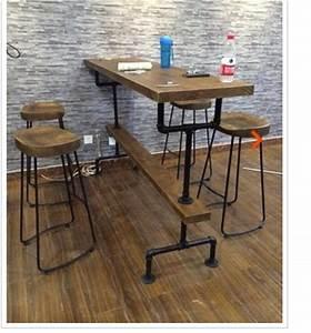 Tabouret De Bar Acier : nordic vintage bois tabouret de bar en acier de haut bar ~ Teatrodelosmanantiales.com Idées de Décoration