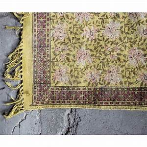tapis oriental indian block jaune par drawer With tapis oriental avec canape malo