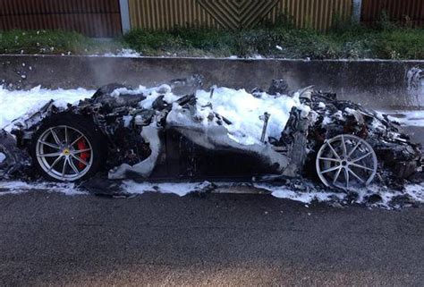 laferrari crash test ferrari f12 tdf burns to a crisp on german autobahn