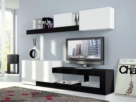 mueble salon oferta blanco  negro nueva coleccion