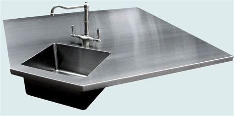Stainless Steel Sink Countertop Integrated - custom stainless countertop with 5 sides integral sink