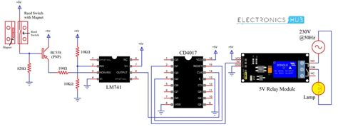 Automatic Washroom Light Switch Circuit Diagram Working