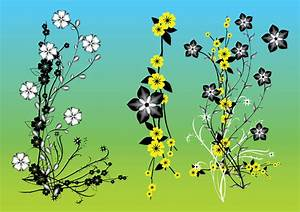 Chinese Flowers Vector Art