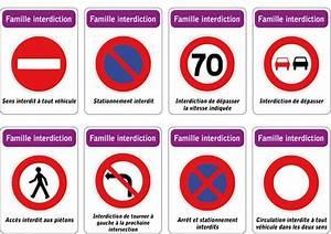 Code De La Route Signalisation : jeu des 5 familles de panneaux de signalisation routi re famille interdiction ateliers ~ Maxctalentgroup.com Avis de Voitures