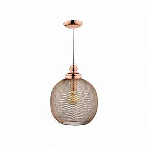 Dar lighting keaton single light ceiling pendant in copper