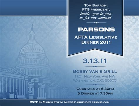 Corporate Legislative Event Invitation on Behance