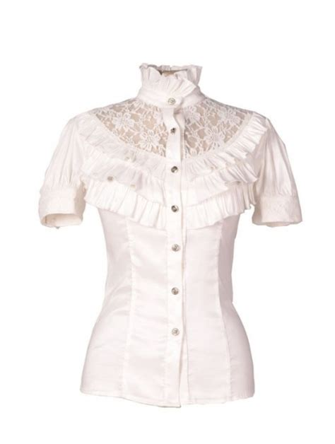 lace collar blouse white blouse with lace collar fashion ql