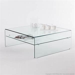 Table Basse Carrée Verre : table basse en verre carr e design le bois chez vous ~ Teatrodelosmanantiales.com Idées de Décoration