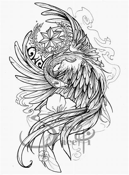 Tattoo Phoenix Sleeve Half Drawings Drawing Tattoos