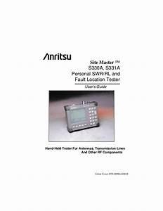 Anritsu Site Master S331d User Manual
