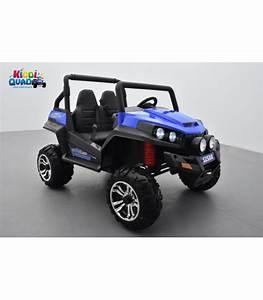 Voiture Electrique Pour 14 Ans : buggy bleu 12v14ah 4 roues motrices de 45 watts en gomme deux places voiture lectrique enfant ~ Melissatoandfro.com Idées de Décoration