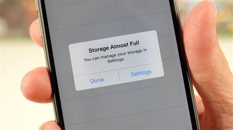 no storage on iphone storage almost make it go away