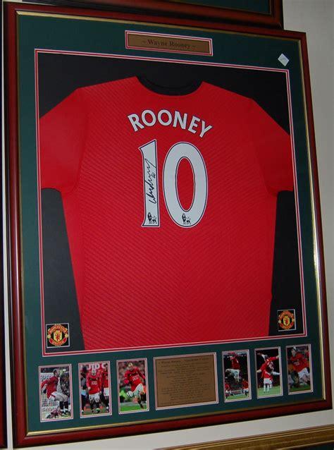 wayne rooney signed framed man united shirt pro sports