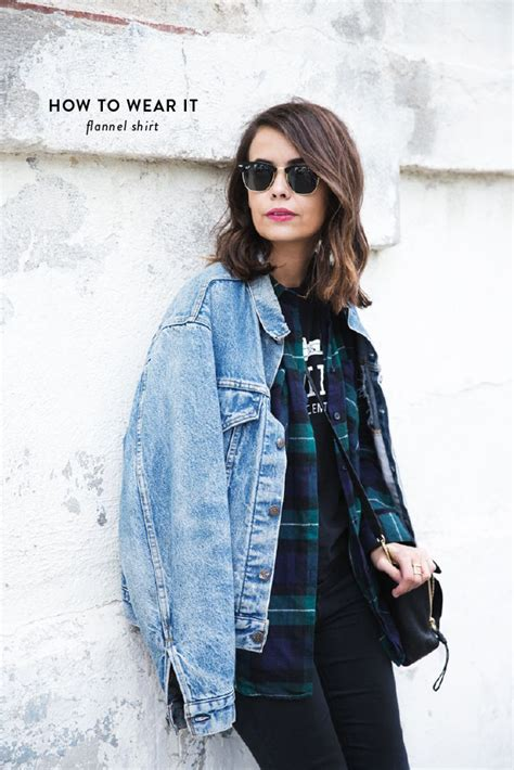 Three ways to wear a flannel shirt - Say Yes