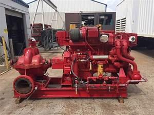 Low Hour Caterpillar 3406c Fire Pump Package 460hp Diesel