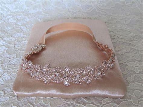rose gold crystal strass braut strumpfband hochzeit