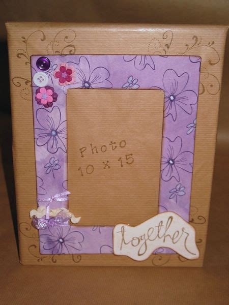 cadre photo fait cadeau no 235 l 2 232 cadre photo fait maison val scrap et autres loisirs creatifs
