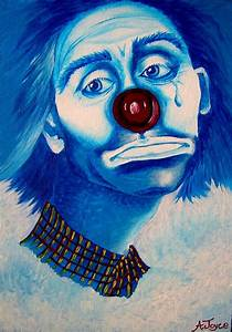 The Sad Clown Painting by Aoife Joyce