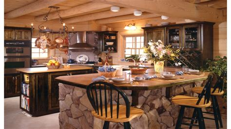 design your own kitchen island design your own kitchen island country log home kitchen 9574