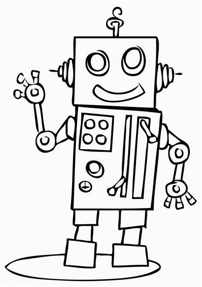 Coloring Pages Robots Cartoon