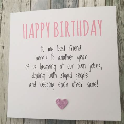 we sign our cards and letters bff best friend birthday card bestie humour 50002