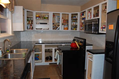 No Kitchen Cabinets with Doors