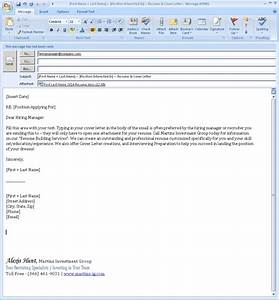 sample email for job application with resume With cover letters for job applications by email