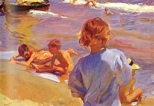 Joaquin Sorolla y Bastida Children on the Beach Valencia ...