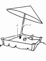 Sandbox Clipart Cartoon Coloring Keywords Related sketch template