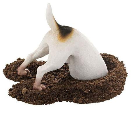 head in a hole dog home garden yard statue sculpture