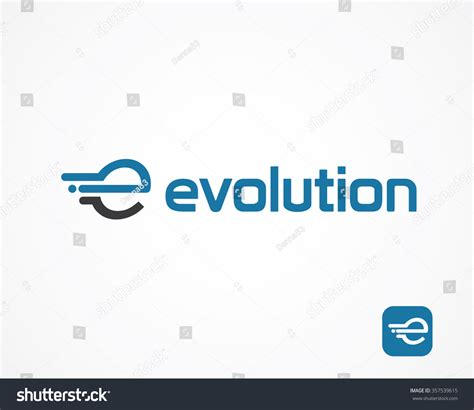 e by design abstract letter e logo design template stock vector