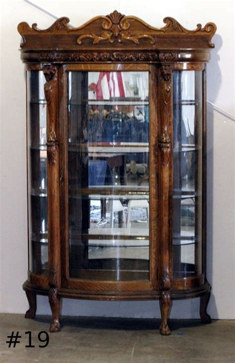antique china cabinets 1800 s antique curio cabinet with curved glass roselawnlutheran