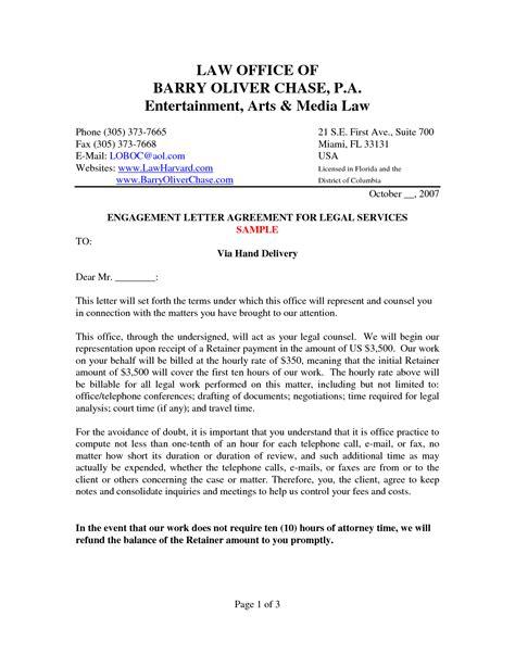 letter of engagement template sle engagement letter crna cover letter