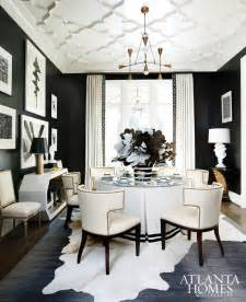 black and white dining room ideas black white style on black walls house of philia and interior design