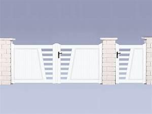 Portail 3 50m : portail pvc valbonne m portillon 37899 37901 ~ Premium-room.com Idées de Décoration
