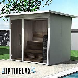 Gartensauna Mit Dusche : design gartensauna optirelax view ~ Whattoseeinmadrid.com Haus und Dekorationen