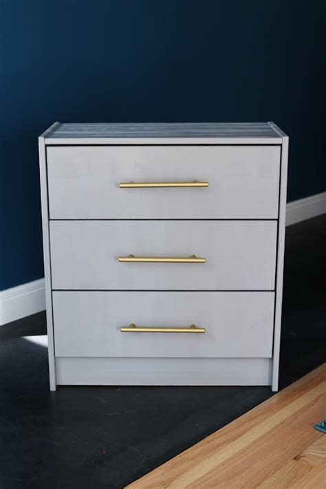 Ikea Nightstand Makeover by At Home Ikea Rast Nightstand Makeover The Reluctant