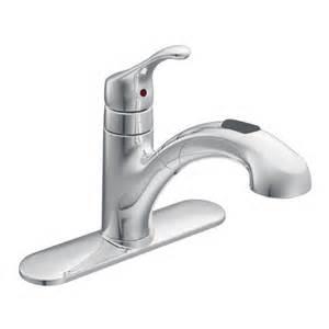 Moen Kitchen Faucet Installation Renzo Chrome One Handle Low Arc Pullout Kitchen Faucet Ca87316c Moen