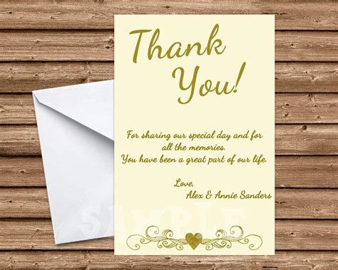 50th Wedding Anniversary Ivory Thank You Cards Party