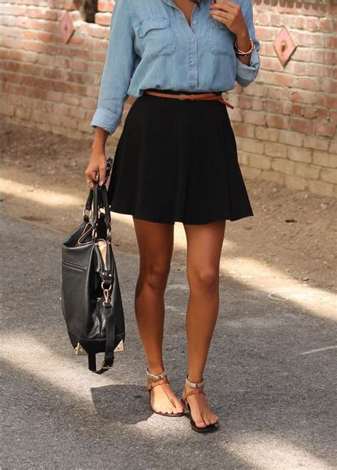 8 Ways to Wear Classic Black Skirt in Spring/Summer - Pretty Designs