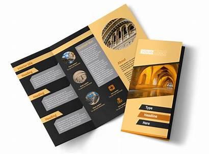 Brochure Creative Architecture Template Templates Fold Tri