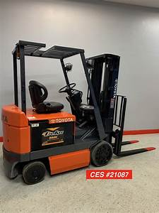 Ces  21087 Toyota 5fbcu25 Electric Forklift