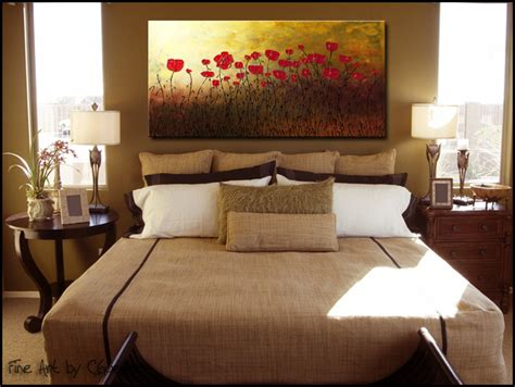 Red Flowersabstract Artwall Abstract Art Paintings For