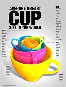 Breast Size Chart Visual Average Breast Cup Size Around The World Infographic