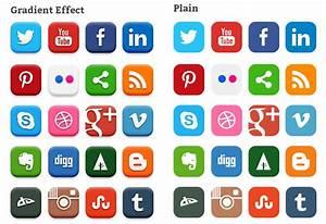 20 Popular Social Media Icons (PSD) - Softarea.in