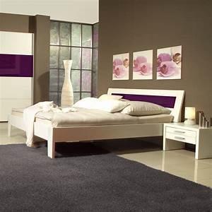 Bett Ohne Rahmen 140x200 : futonbett bett bettgestell 140x200 mit nachtkonsolen in wei lila ebay ~ Bigdaddyawards.com Haus und Dekorationen