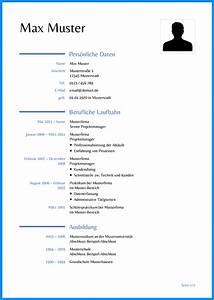 8 tabellarischer lebenslauf vorlage word business template With lebenslauf englisch muster word