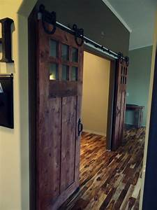 sophisticated double barn doors interior with glass top With best wood for barn door