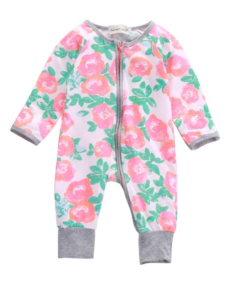 Aliexpress.com  Buy Autumn Baby Girls Boys Clothing Newborn baby Long Sleeve Floral Romper ...